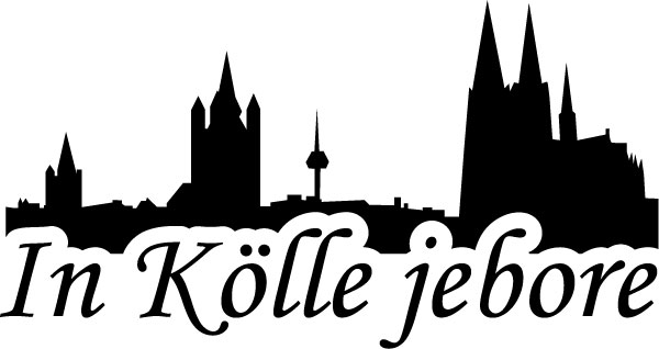 Köln Aufkleber In Kölle Doheim Jebore Schwarz Silber